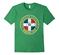 Funny Beer Dominican Republic Drinking Team Casual T-shirt Forest Green