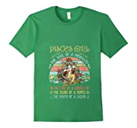 Pisces Girl The Soul Of A Mermaid Vintage Birthday Gift Shirts Forest Green