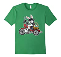 Easter Bunny Motorcycle Tshirt Biker Gifts Braap T-shirt Forest Green