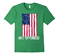 Betsy Ross American Flag Tshirt With 13 Stars For Protesters Forest Green