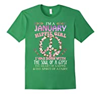I'm A January Hippie Girl T-shirt Capricorn Pride Forest Green