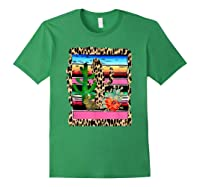 Fiesta Serape Cheetah Cactus Flower Cacti Rabbit T Shirt Forest Green