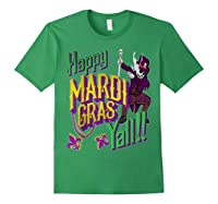 Happy Mardi Gras Yall Dabbing Voodoo King Costume Gift Shirts Forest Green
