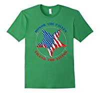 Honor The Fallen Thank The Living Veteran's Day Gift Tee Premium T-shirt Forest Green