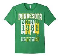 Minnesota 1961 Skyline Throwback Football Shirts Forest Green