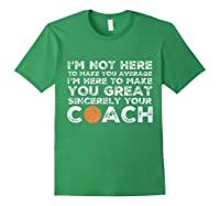 Funny Basketball Coach Shirt   Coaches Tshirt Gift Idea Forest Green