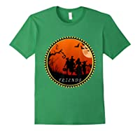 Friends Horror Scary Halloween T Shirt For Forest Green