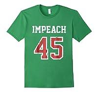Impeach 45 T Shirt Team Impeach Trump Vintage Forest Green