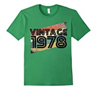Vintage 1978 - Retro 40th T Shirt Gift 40 Yrs Years Old Forest Green