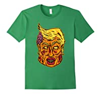 Cool And Creative Zombie Donald Trump T-shirt Forest Green