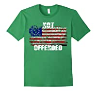 Not Offended B Ross American Flag Shirts Forest Green
