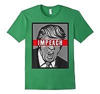 Impeach Trump Not My President Tshirts Forest Green