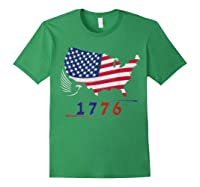 B Ross 1776 American Flag Eagle 4th Of July Shirts Forest Green