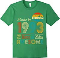Made In 1993 Vintage Retro 28 Years Old 28th Birthday Gifts T-shirt Forest Green