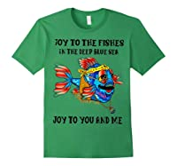 Joy To Fishes In Deep Blue Sea Hippie Shirts Forest Green