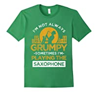 Playing The Saxophone Marching Band Jazz Music Shirts Forest Green