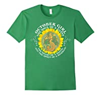 October Girl The Soul Of A Mermaid Tshirt Birthday Gifts Forest Green