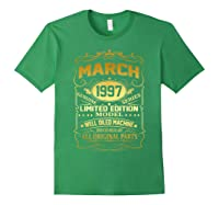March 1997 Vintage 22nd Birthday 22 Years Old Gif Shirts Forest Green