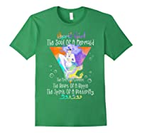 April Girl The Soul Of A Mermaid The Fire Of A Lioness Shirts Forest Green