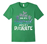 Funny Mermaid Sailor Mermaid Soul And Pirate Mouth T Shirt Forest Green