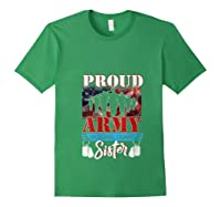 Proud Army National Guard Sister Mothers Day Shirt T-shirt Forest Green