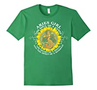 Aries Girl The Soul Of A Mermaid Tshirt Birthday Gifts Forest Green