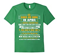 Kings Are Born In April Vintage Birthday Shirts Forest Green