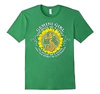 Gemini Girl The Soul Of A Mermaid Tshirt Birthday Gifts Forest Green