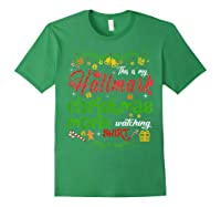 Funny Watching Christmas Movie Xmas Christmas Movies Gifts T-shirt Forest Green