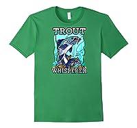 Funny Trout Fishing, Fish Fisherman Gifts Baseball Shirts Forest Green