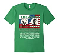 Trump Putin Treason T Shirt Impeach 45 Code 2381 Treason Forest Green