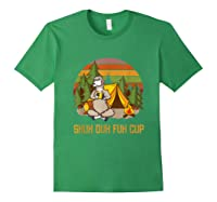 Shuh Duh Fuh Cup Drinking Beer Camping T Shirt T Shirt Forest Green