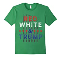 Red And Trump Usa Flag 2020 Election Donald Trump Shirts Forest Green