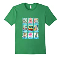 The Look Of Spongebob Characters Shirts Forest Green