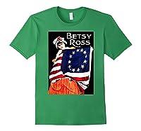 Usa Betsy Ross American Flag Shirt Art 13 Original Colonies T Shirt Forest Green