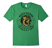 August Woman The Soul Of A Mermaid Tshirt For Black Forest Green