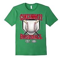 Cincinnati Baseball Retro Vintage Baseball Design Shirts Forest Green
