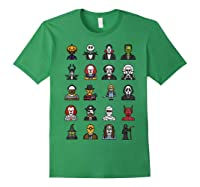 Friends Cartoon Halloween Character Scary Horror Movies T Shirt Forest Green