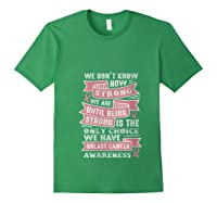 Pink Ribbon Breast Cancer Warrior Awareness Month Believe T Shirt Forest Green