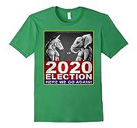 2020 Election Democrat Versus Republican Fighter T Shirt Forest Green