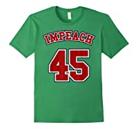 Anti Trump Red And Blue Retro Sports Style Impeach 45 T Shirt Forest Green