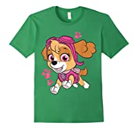 Paw Patrol Skye Jumping T-shirt Forest Green