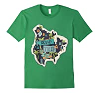 Road Trip 2019 Family Summer Vacation Hippie Van Surf Gift Zip Shirts Forest Green