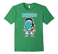 Feel Ink Bandido Bandit Lucha Libre Mexican Pro Wrestler Premium T Shirt Forest Green