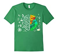 Colorful Brain Science And Art Love Science Art Gifts T Shirt Forest Green