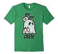 Vintage Boo Boo Crew Funny Halloween Ghost Nurse Nursing Shirts Forest Green