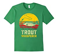 Trout Fishing Brook, Brown, Rainbow Trout Fish Gift Shirts Forest Green