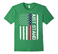 Memorial Day Veterans Day 2018 T Shirt Just Stand Forest Green