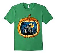 Funny Pumpkin Vintage Halloween Pumpkin Costume Shirts Forest Green