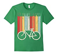 Retro Vintage Cleveland City Cycling Shirt For Cycling Lover Forest Green